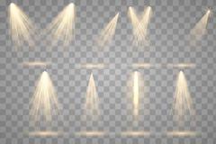 Iluminación brillante con los proyectores libre illustration