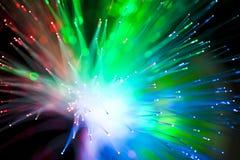 Iluminación de fibra óptica Foto de archivo