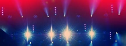 Iluminación de la etapa durante el concierto imagen de archivo