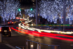 Iluminación de la Navidad de Roppongi en Tokio imagen de archivo libre de regalías