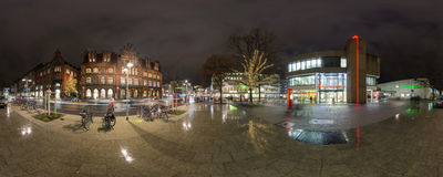 Iluminación de la Navidad en Hannover Fotografía de archivo libre de regalías