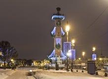 Iluminación de la Navidad en St Petersburg Foto de archivo