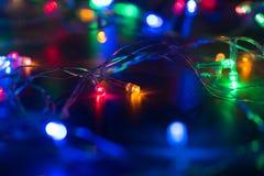 Iluminación de la Navidad para el árbol de navidad del ornamento Imagen de archivo
