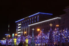 Iluminación de la Navidad y del Año Nuevo Fotografía de archivo