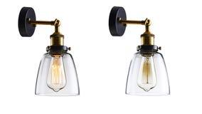 Iluminación de la pared de cristal Imagen de archivo libre de regalías