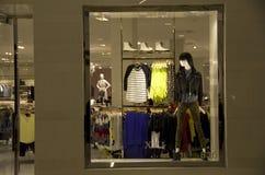 Iluminación de la tienda de la moda Foto de archivo