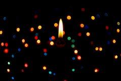 Iluminación de la vela de la estrella Fotografía de archivo libre de regalías
