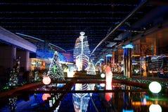 Iluminación de Navidad Imagen de archivo libre de regalías