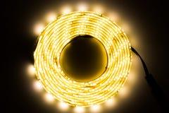 Iluminación de tira del LED Fotos de archivo libres de regalías