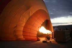 Iluminación de un vuelo del globo Imagen de archivo