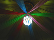 Iluminación de Yurt Foto de archivo