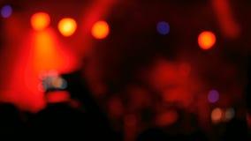 Iluminación Defocused del concierto almacen de video