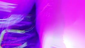 Iluminación del club nocturno, luces que destellan en el partido fresco Efecto visual Fondo metrajes