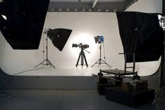 Iluminación del estudio. Foto de archivo