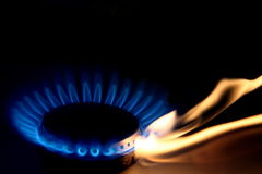 Iluminación del horno Fotos de archivo