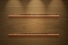 Iluminación del panel de madera de Brown Foto de archivo libre de regalías