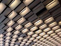 iluminación del pasillo de convención del estilo de los años 70 Imagen de archivo libre de regalías