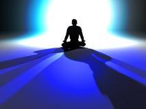 Iluminación del zen stock de ilustración
