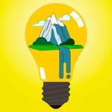 Iluminación ecológica Imagen de archivo libre de regalías