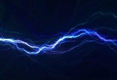 Iluminación eléctrica azul Fotografía de archivo