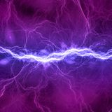 Iluminación eléctrica azul y púrpura Foto de archivo libre de regalías