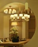 iluminación elegante del techo Fotografía de archivo