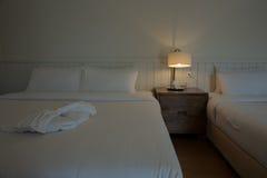 Iluminación en el dormitorio Foto de archivo libre de regalías