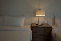 Iluminación en el dormitorio Fotografía de archivo