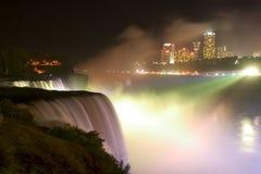 Iluminación en Niagara Imagen de archivo libre de regalías
