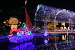 Iluminación festiva en la lata 2015 de Sha Foto de archivo