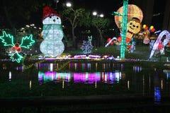 Iluminación festiva en la lata 2015 de Sha Imagen de archivo libre de regalías
