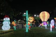 Iluminación festiva en la lata 2015 de Sha Fotografía de archivo libre de regalías