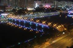 Iluminación festiva en la lata 2015 de Sha Imagen de archivo