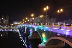 Iluminación festiva en la lata 2015 de Sha Fotos de archivo