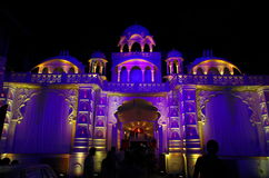 Iluminación-Ii hermosa de la celebración del palacio Fotografía de archivo libre de regalías