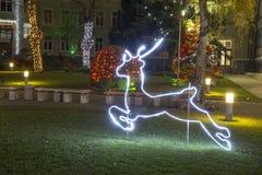 Iluminación por días de fiesta de la Navidad y del Año Nuevo Fotografía de archivo libre de regalías