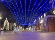 Iluminación por la Navidad y el Año Nuevo Fotografía de archivo libre de regalías