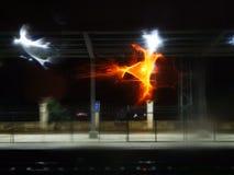 Iluminación que es extendida por el agua imagen de archivo libre de regalías