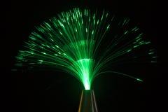 Iluminación verde Fotos de archivo libres de regalías