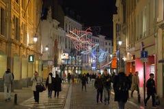 Iluminación de la Navidad que representa las constelaciones famosas Fotografía de archivo libre de regalías