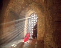 Iluminación en la pagoda Foto de archivo