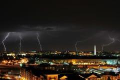 Iluminación en Washington DC Fotos de archivo libres de regalías