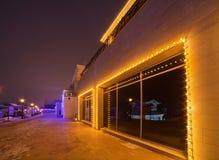 Iluminación fuera del edificio Fotografía de archivo libre de regalías