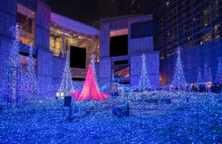 Iluminaciones de la estación del invierno foto de archivo