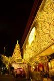 Iluminaciones de la Navidad Fotografía de archivo