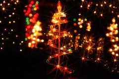 Iluminaciones de la Navidad en América Imágenes de archivo libres de regalías