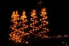 Iluminaciones de la Navidad en América Fotografía de archivo libre de regalías
