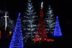 Iluminaciones de la Navidad en América Foto de archivo
