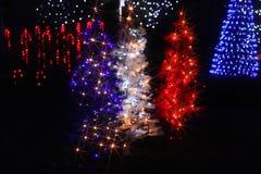 Iluminaciones de la Navidad en América Fotografía de archivo