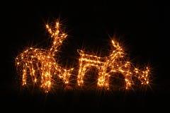 Iluminaciones de la Navidad en América Imagen de archivo libre de regalías